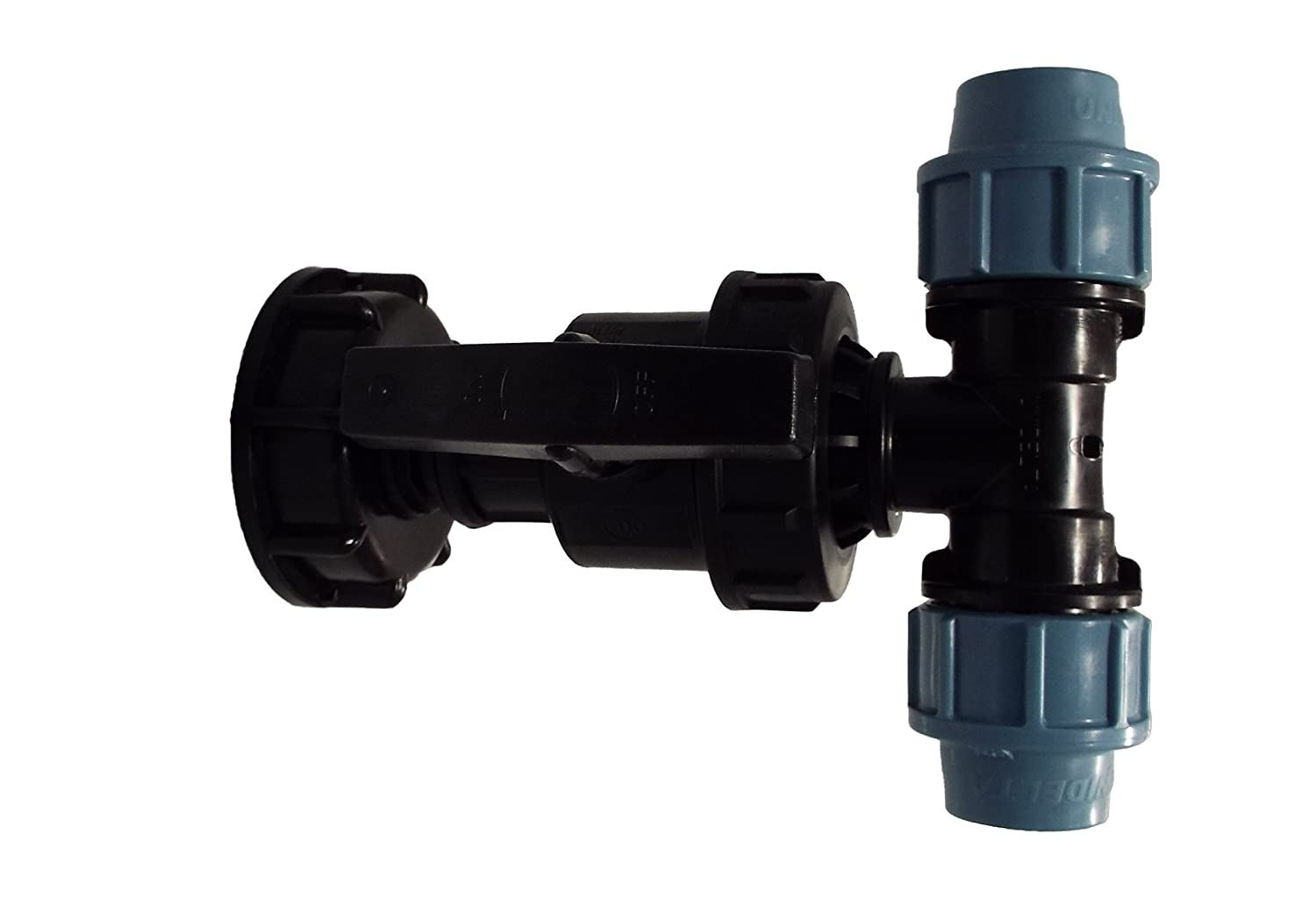 IBC TANK S60X6 ADAPTER TO MDPE WATER PIPE FITTINGS by Cost Wise® ,the irrigation specialists (20MM ELBOW)