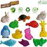 NHR Combo of Mixed Attractive Colorful Animal Rattles, Non Toxic, BPA Free, 100% Safe Baby Rattles for New Born Babies , Infants , Toddlers Set of 12 Pcs (Multi Color)