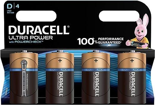 Duracell Ultra Power Alkaline D Batterien 4er Pack Elektronik