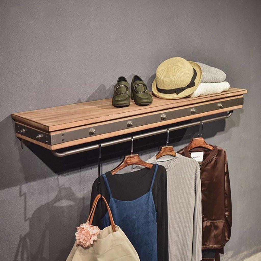 衣料品店の家の木製の装飾フレーム鍛造鉄創造的な子供服店の装飾棚木製の壁のディスプレイシェルフサイズ:30 * 15 * 120センチメートル   B07KVQFVNJ