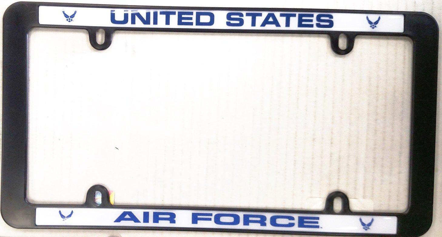 Air Force schwarz Kunststoff Nummernschild Rahmen Tag Cover ...