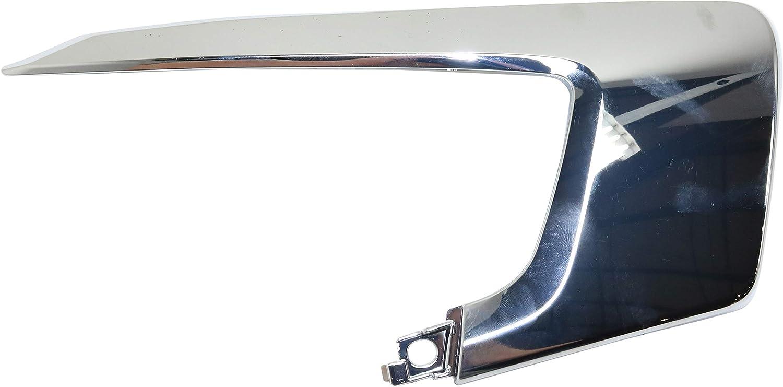 Front Bumper Molding Compatible with 2016-2019 Mitsubishi Outlander Sport//RVR Upper Garnish Upper Garnish Chrome Passenger Side