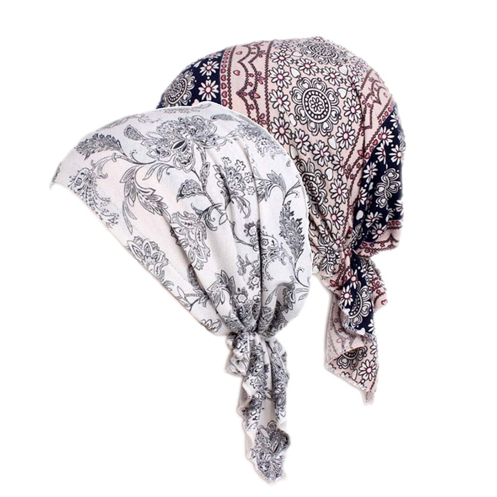 Women's Comfort Head Scarf Turban Headwear Chemo Beanie Scarves Coverings (Color Mix)