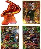 Serie 3 Ninjago Limitierte Gold Karten LE 9 LE 10 und LE 11 + Bonus Aufkleber Kai