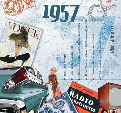 CD Tarjeta de sonido 60 cumpleaños 20 Original Hits de 1957 ...