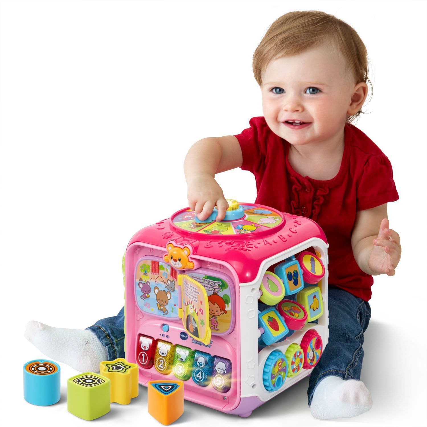 VTech Sort & Discover Activity Cube, Pink