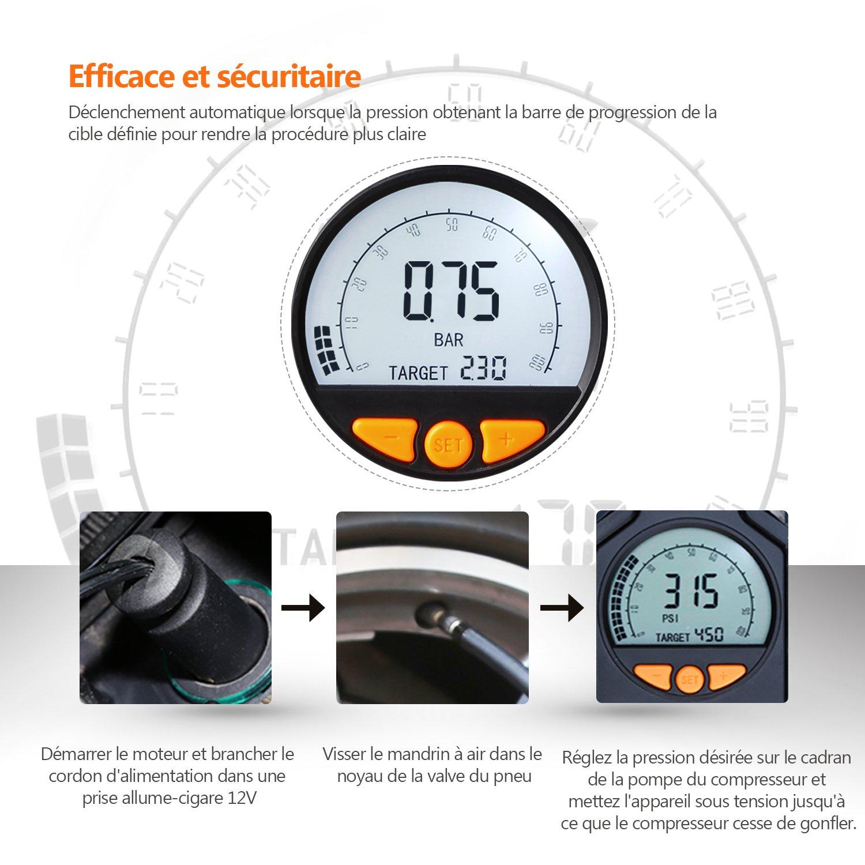 Electrique Tacklife Compresseur Acp1c D'air VoitureGonfleur De 0wPknO