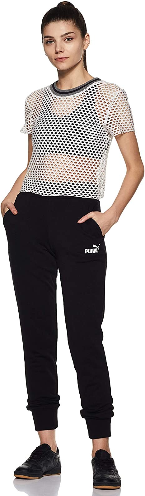 PUMA ESS Sweat TR cl Pants, Mujer, Negro (Cotton Black), XL ...