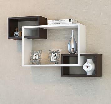 ibiza estantera de pared blanco wengu estantera de madera estantera para libros