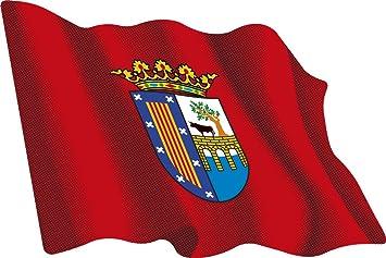 Artimagen Pegatina Bandera Ondeante Salamanca 80x60 mm.: Amazon.es: Coche y moto