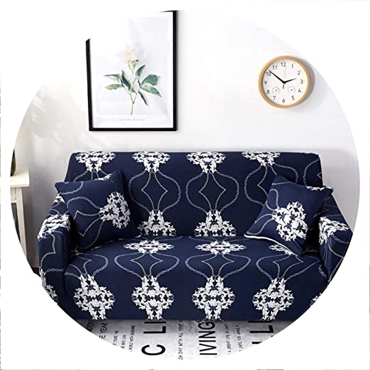 two Funda de sofá elástica Universal con diseño Floral para ...