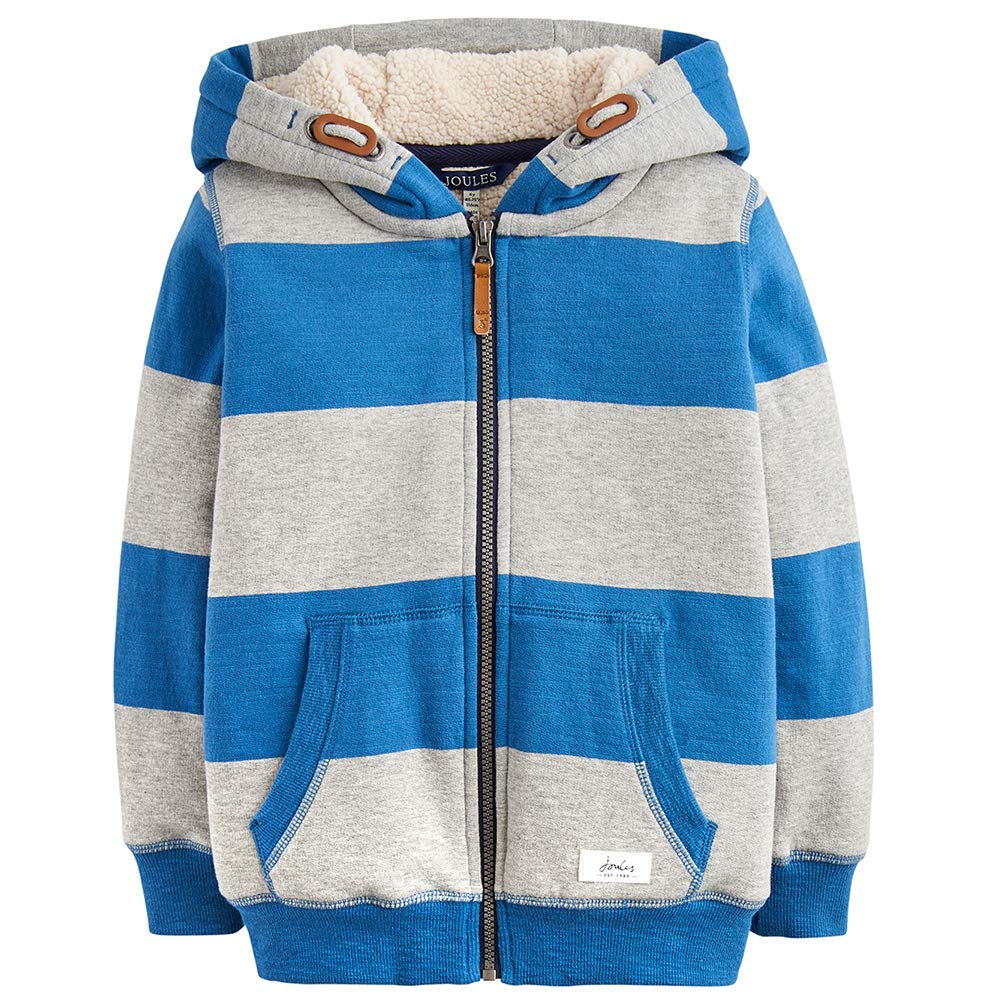 Lagoon Stripe Joules Zip Through Hooded Sweatshirt