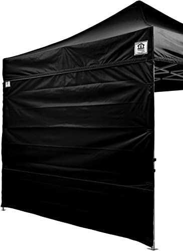 Impact Canopy 10×10 Canopy Tent Solid Sidewalls/White Screen Room Sidewalls Combo Pack Black