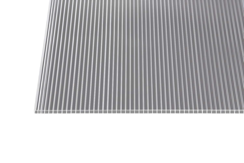 Polycarbonat Stegplatten Hohlkammerplatten klar 4000 x 1050 x 6 mm