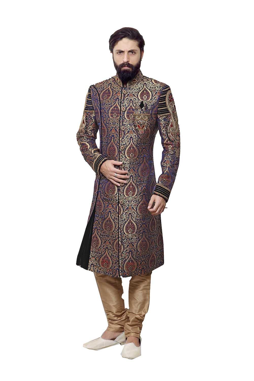 PinkCityCreations Indian Sherwani For Men Readymade Designer Partywear For Wedding Exclusive Fashion Indo-Western Dress