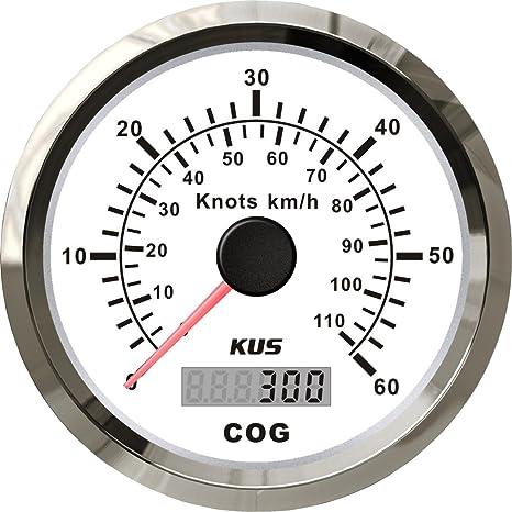 Betriebsstundenzähler digital schwarz Boot KUS Top mit Kabelset