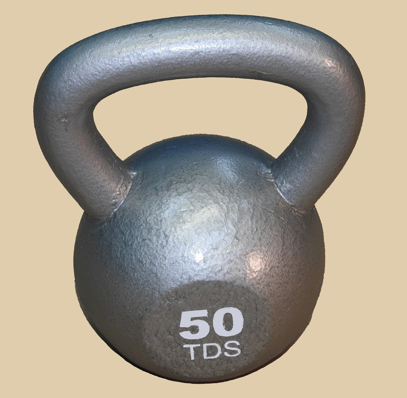 TDS 50 lb Solid Cast Iron Kettlebell for Full Body Workout Weight Loss and Strength Training