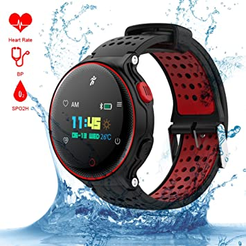 Smart Watch Qimaoo Reloj Inteligente Smart Watch Bluetooth 4.0 GPS WatchTracker IP68 impermeable de Natación Reloj ...
