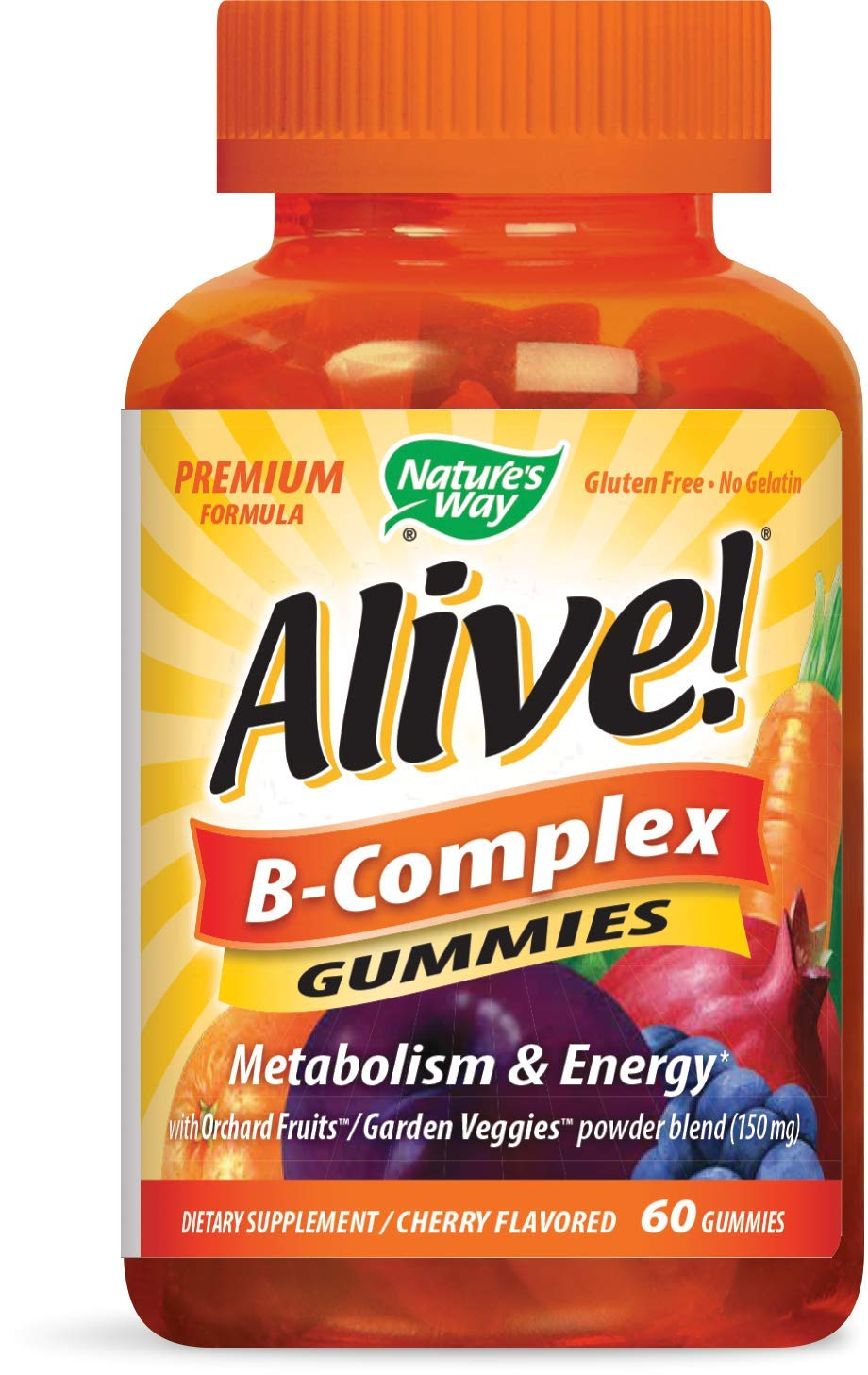 Natures Way Alive!® B-Complex Gummies, Food-Based Blend (150mg