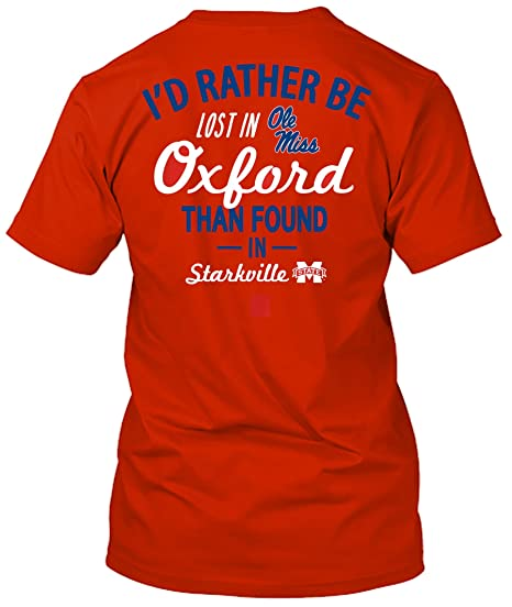 Amazon Com Ole Miss Rebels Lost In Oxford T Shirt Sports Outdoors