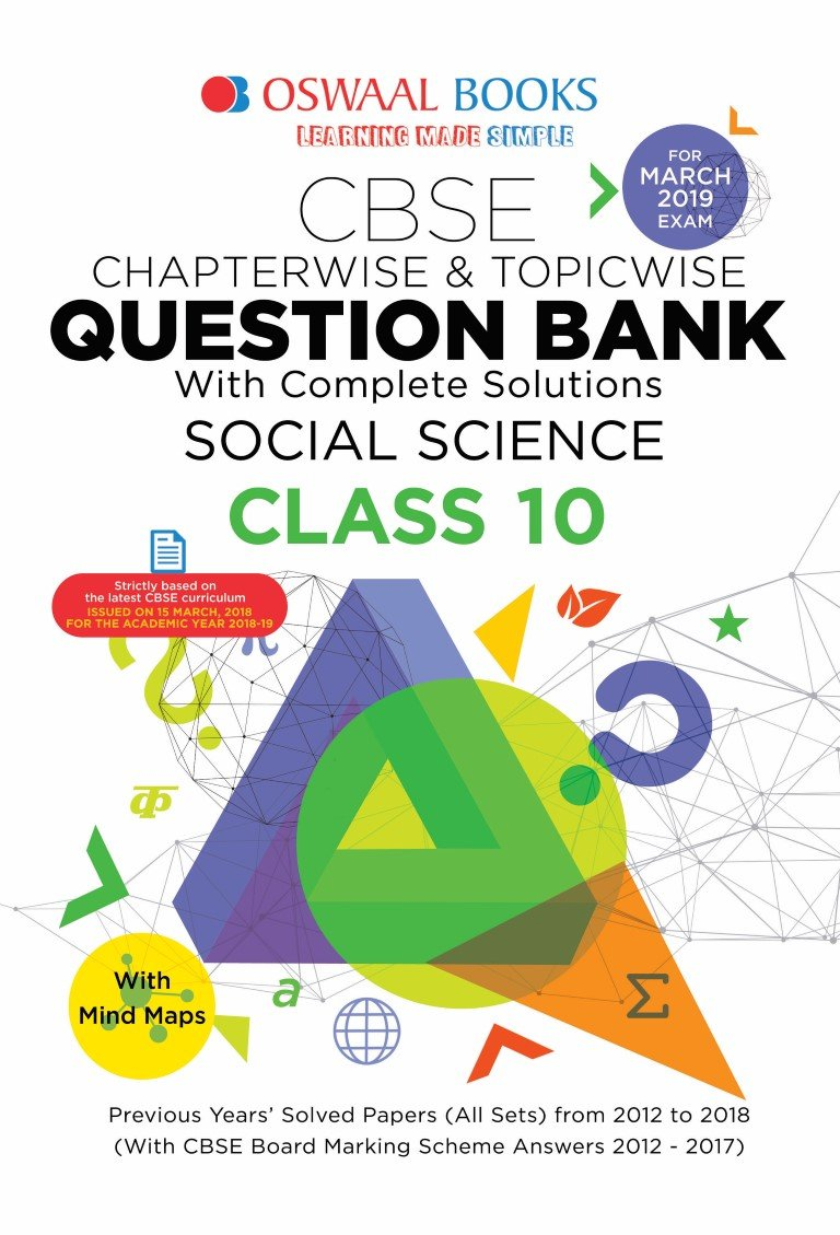 Oswaal CBSE Question Bank Class 10 Social Science Chapterwise and
