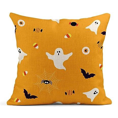 Cojín Lindo Halloween Fantasma fantasmagórico Caramelo en ...
