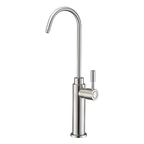Water Faucet, WENKEN Modern Best Solid Brass Brushed Nickel Kitchen ...