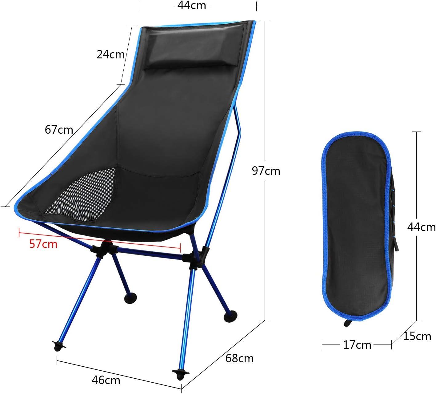 Backpacking Angeln BBQ Picknick TsunNee Falten Camping Stuhl Garten Leicht tragbar Stuhl im Freien mit Tragetasche zum Wandern Strand