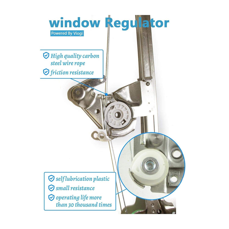 Alxiang 1pcs New Front Left Driver Glass Window Regulator w//Motor Fits 1997-01 Cherokee 125-01929L