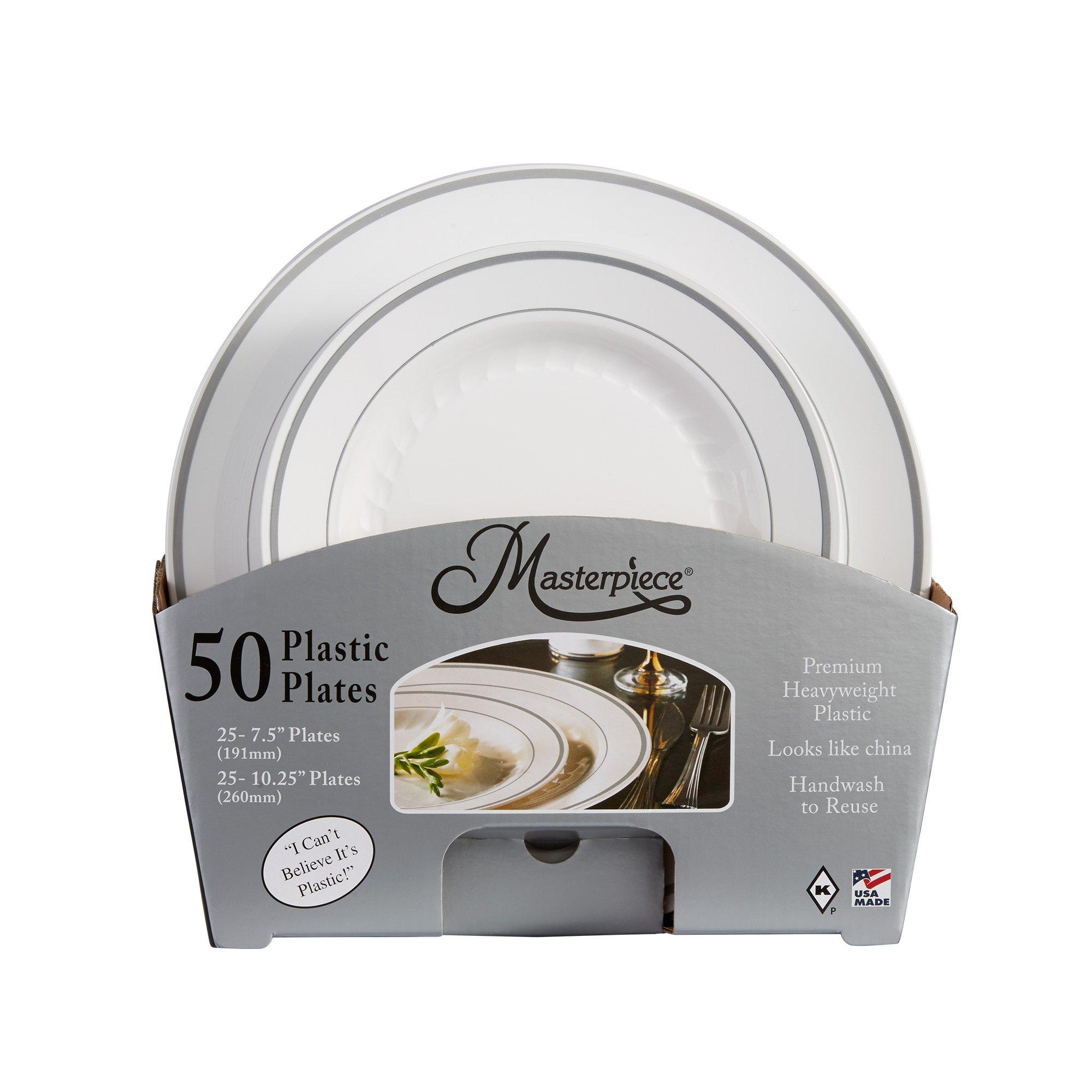 Masterpiece Premium Quality Heavyweight Plastic Plates 25 Dinner Plates and 25 Salad Plates - 2604 \u003c Plates \u003c Health \u0026 Household - TIBS  sc 1 st  TIBS & Masterpiece Premium Quality Heavyweight Plastic Plates: 25 Dinner ...