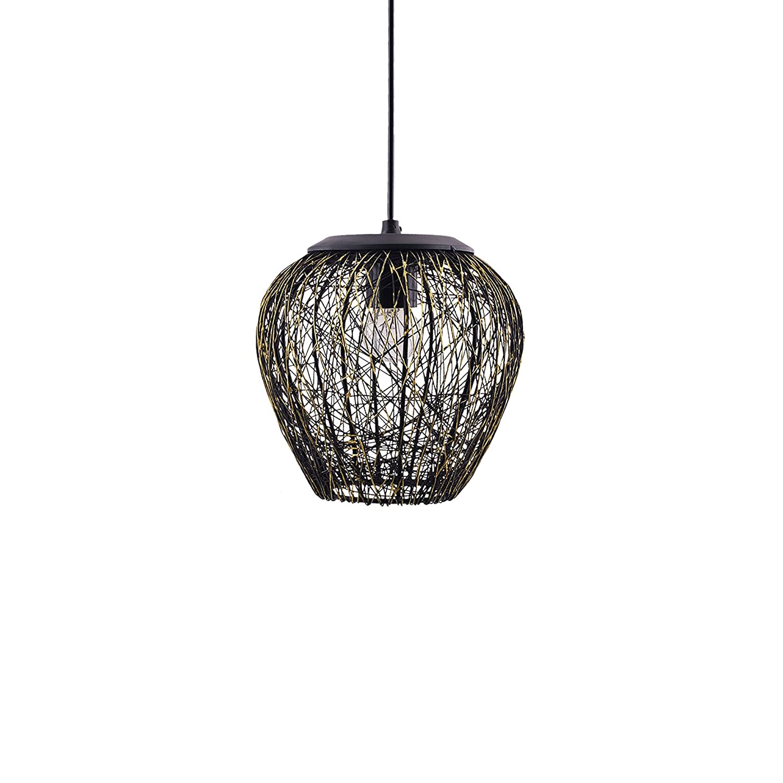 Buy Homesake A897 Wire Mesh Hanging Pendant Light (Black) Online at ...