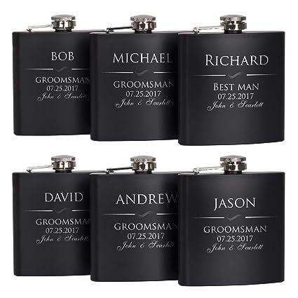 amazon com p lab set of 6 groomsmen gift groomsman gifts for