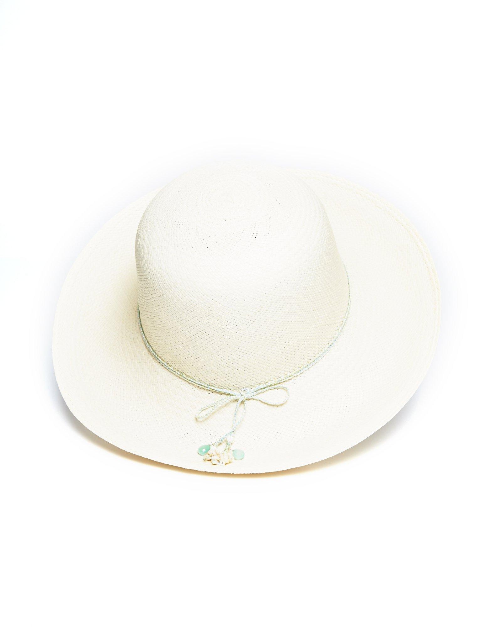 White Lanikai Panama Hat