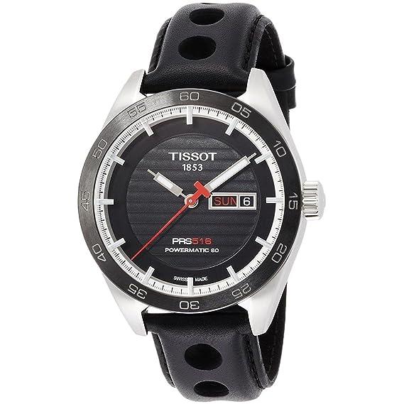 TISSOT RELOJ DE HOMBRE AUTOMÁTICO 42MM CORREA DE CUERO T100.430.16.051.00: Amazon.es: Relojes