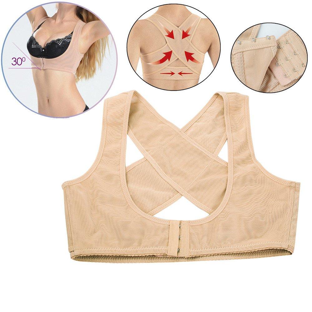 Lolicute Personal Posture Corrector,Chest Brace Up Prevent Chest Sagging And Humpback Correct Posture Corset Bra X Strap Vest for Female/Women(M/L/XL) (L)