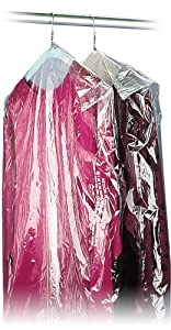 """40"""" 21x7 Crystal Clear Plastic Dry Cleaning Poly Garment Bags - 600 Bags / Roll"""