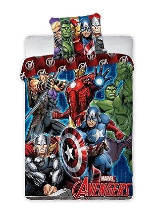 Unbekannt Faro Marvel Avengers Kinder Bettwäsche 140x200 Cm Oeko