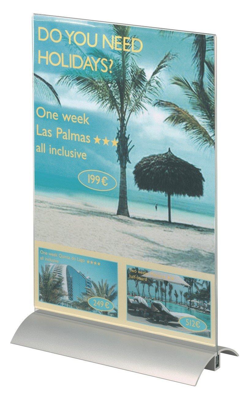 Trasparente Presenter A4 Durable 858919 per Materiale Formato A4 Espositore da Tavolo 212 x 323 x 85 mm