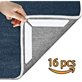 Rug Grippers by BV | 16 pcs White Anti Slip Rug Pad | Anti Curling Carpet Gripper for Corners and Edges | Ideal Rug Stopper For Indoor and Outdoor