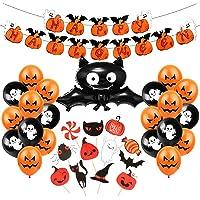 Bluelves Halloween decoratie kinderset, 36 stuks Halloween ballondecoratie, Halloween Happy Garland Banner, Halloween…