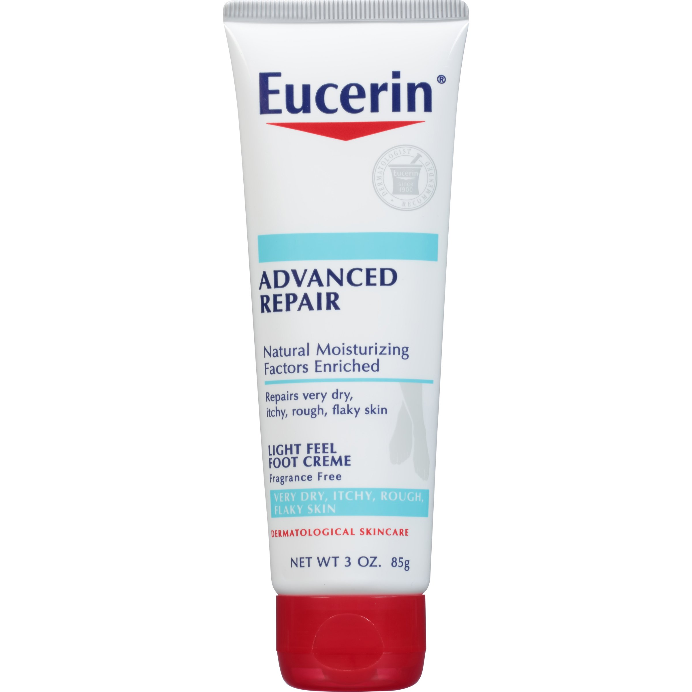 Eucerin Advanced Repair Light Feel Foot Creme 3 Ounce (Pack of 3) (Packaging May Vary)
