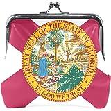 Florida State Flag Coin Purse Mini Leather Hasp Handbag