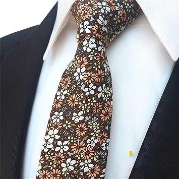 XJIUER corbata Flor Narrow Version Hombres 6 Cm Boda Novio Corbata ...