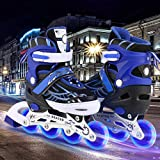 Aceshin Adjustable Inline Skates for Kids, Safe and Durable, Illuminating Rollerblades for Boys and Girls