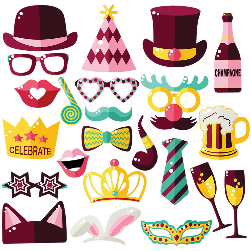 Amazon.com: Party Photo Booth Props - Beautiful and Vibrant ...