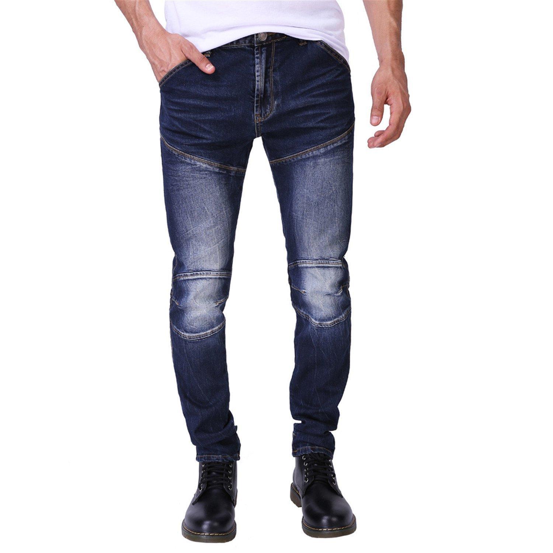 TOPING Fine Men Jeans Fashion Slim Fit Jeans Strech 3D Design Jeans For Men H0294 Blue34