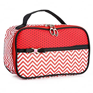 Amazon.com   Fashion Splice Geometric Pint Leather Travel Cosmetic Bags  Large Capacity Portable Makeup Bag Waterproof Handy Pouch Toiletry Bags  Storage ... 5490b8508aa15