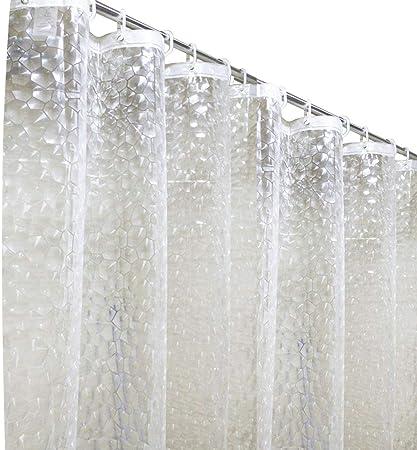 Duschvorhänge 3D Wasserwürfel Duschvorhang Transparent Wasserdicht Anti Schimmel