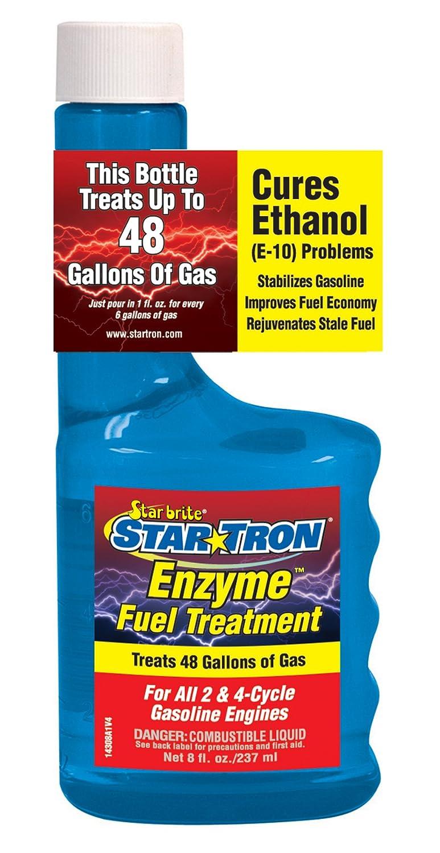Atlas Star Tron Enzyme Fuel Treatment, Concentrated Gas Formula, 8 Ounces 14308C 74-14308C