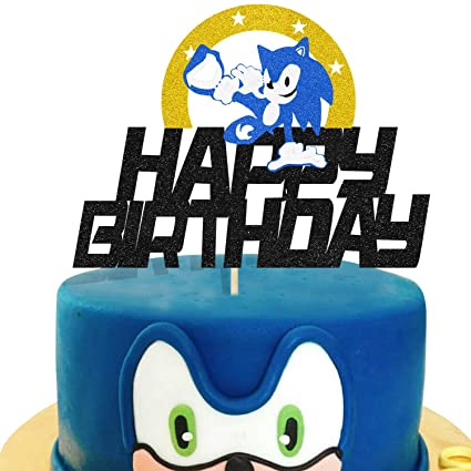 Kapokku Sonic Cake Decorations For Sonic The Hedgehog Cake Toppers Birthday Party Supplies Cupcake Topper Boys Decor Amazon Com Grocery Gourmet Food